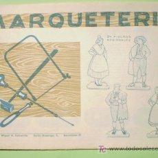 Coleccionismo Recortables: GIN. CUADERNO DE MARQUETERÍA Nº 23 - 24 FIGURAS REGIONALES. Lote 26781617