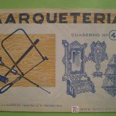 Coleccionismo Recortables: GIN. CUADERNO DE MARQUETERÍA Nº 4 - COLGADORES. Lote 26781566