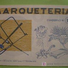 Coleccionismo Recortables: GIN. CUADERNO DE MARQUETERÍA Nº 11 - CANDELABRO, MACETERO, SOPORTANOTAS Y COLGADOR DE LLAVES. Lote 44747195