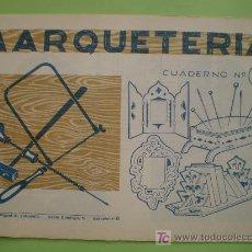 Coleccionismo Recortables: GIN. CUADERNO DE MARQUETERÍA Nº 14 - TRÍPTICO, ALFILETERO, MARCO DE ESPEJO Y SOPORTALIBROS. Lote 26781586