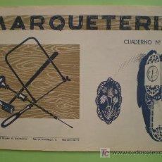 Coleccionismo Recortables: GIN. CUADERNO DE MARQUETERÍA Nº 20 - PLATO DECORADO Y RELOJ DE PARED. Lote 26781589