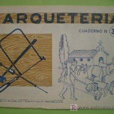 Coleccionismo Recortables: GIN. CUADERNO DE MARQUETERÍA Nº 32 - IGLESIA, CAMPESINO Y ANIMALES. Lote 26781631