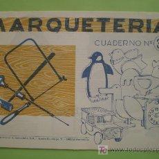 Coleccionismo Recortables: GIN. CUADERNO DE MARQUETERÍA Nº 39 - ANIMALES, RELOJ, COCHE. Lote 30082478