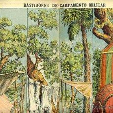Coleccionismo Recortables: RECORTABLE DE DECORACIONES DE TEATRO: BASTIDORES DE CAMPAMENTO MILITAR (PALUZIE NUM. 504). Lote 17018625