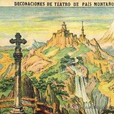 Coleccionismo Recortables: RECORTABLE DE DECORACIONES DE TEATRO: PAIS MONTAÑOSO (PALUZIE NUM. 509). Lote 53760465