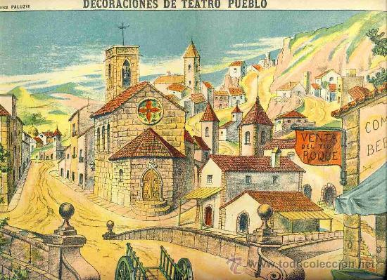 RECORTABLE DE DECORACIONES DE TEATRO: PUEBLO (PALUZIE NUM. 1038) (Coleccionismo - Otros recortables)