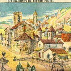 Coleccionismo Recortables: RECORTABLE DE DECORACIONES DE TEATRO: PUEBLO (PALUZIE NUM. 1038). Lote 17018672