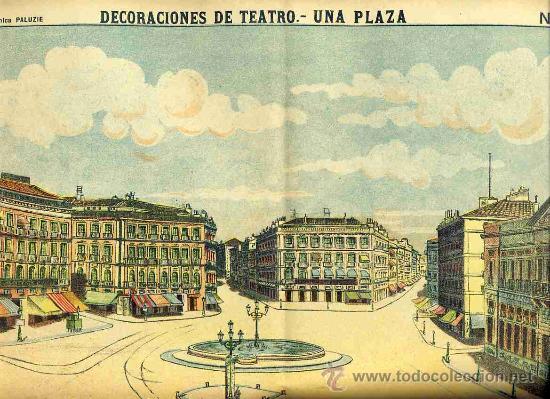 RECORTABLE DE DECORACIONES DE TEATRO: UNA PLAZA (PALUZIE NUM. 1045) (Coleccionismo - Otros recortables)