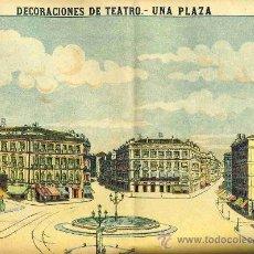 Coleccionismo Recortables: RECORTABLE DE DECORACIONES DE TEATRO: UNA PLAZA (PALUZIE NUM. 1045). Lote 17018685