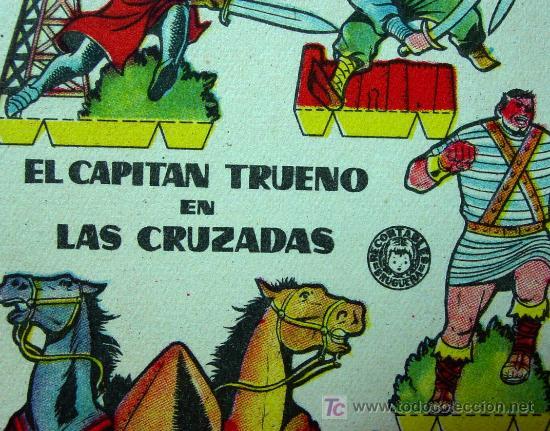 RECORTABLE BRUGUERA, EL CAPITAN TRUENO EN LAS CRUZADAS, 1960, 17 X 12 CM (Coleccionismo - Otros recortables)