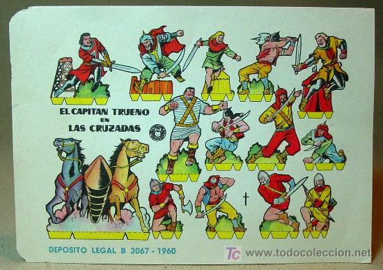 Coleccionismo Recortables: RECORTABLE BRUGUERA, EL CAPITAN TRUENO EN LAS CRUZADAS, 1960, 17 x 12 cm - Foto 2 - 16297902