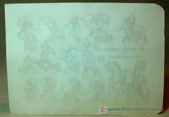 Coleccionismo Recortables: RECORTABLE BRUGUERA, EL CAPITAN TRUENO EN LAS CRUZADAS, 1960, 17 x 12 cm - Foto 3 - 16297902