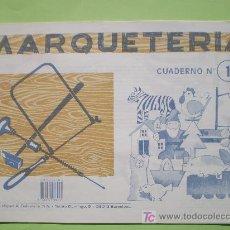 Coleccionismo Recortables: GIN. CUADERNO DE MARQUETERÍA Nº 1 - ANIMALES, CASA, BARCO, GNOMO.... Lote 28914287