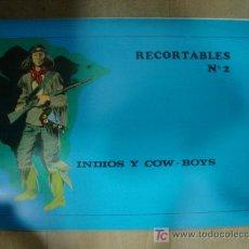 Coleccionismo Recortables: CUADERNO DE RECORTABLE COMPLETO DE INDIOS Y COW BOYS. CONTIENE 8 RECORTABLES.. Lote 19455187