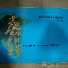 Coleccionismo Recortables: CUADERNO DE RECORTABLE COMPLETO DE INDIOS Y COW BOYS. CONTIENE 8 RECORTABLES.. Lote 19455197