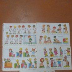 Coleccionismo Recortables: LOTE DE 5 RECORTABLES BABY. SERIE ESCENAS INFANTILES. EDITORIAL ROMA. . Lote 25733807