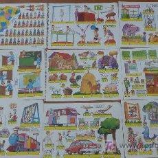 Coleccionismo Recortables: LOTE DE 9 RECORTABLES KIKI-LOLO. SERIE ESCENAS INFANTILES. EDITORIAL ROMA. COLECCION ENTERA.. Lote 25733774