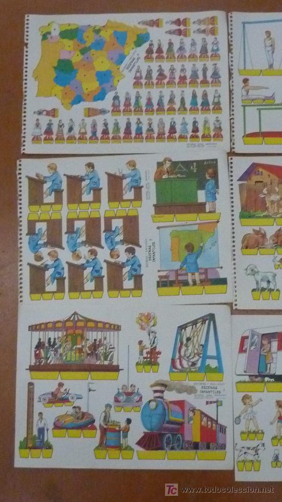 Coleccionismo Recortables: Lote de 9 recortables Kiki-lolo. Serie Escenas infantiles. Editorial Roma. Coleccion entera. - Foto 2 - 25733774