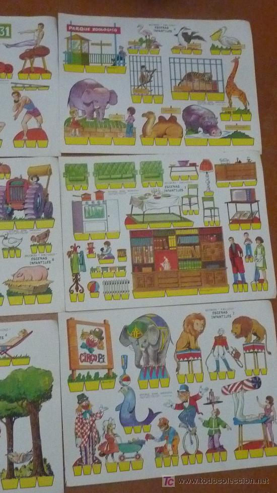 Coleccionismo Recortables: Lote de 9 recortables Kiki-lolo. Serie Escenas infantiles. Editorial Roma. Coleccion entera. - Foto 4 - 25733774