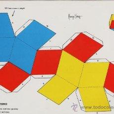 Coleccionismo Recortables: RECORTABLE.- FIGURAS GEOMETRICAS Nº 6.- ROMBO DODECAEDRO .- ED. ROMA- AÑO 1983. Lote 184038861