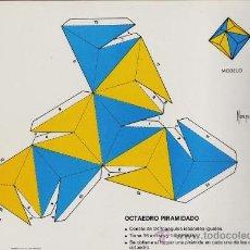 Coleccionismo Recortables: RECORTABLE.- FIGURAS GEOMETRICAS Nº 17.- OCTAEDRO PIRAMIDADO - ED. ROMA- AÑO 1983. Lote 184039083
