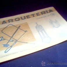 Coleccionismo Recortables: MARQUETERIA. CUADERNO Nº 16. MIGUEL A. SALVATELLA. 1960. CAPILLA.. Lote 22043278