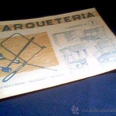 Coleccionismo Recortables: MARQUETERIA. CUADERNO Nº 7. MIGUEL A. SALVATELLA. . Lote 22043326