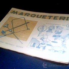 Coleccionismo Recortables: MARQUETERIA. CUADERNO Nº 3. MIGUEL A. SALVATELLA. 1960. Lote 107823506