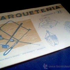 Coleccionismo Recortables: MARQUETERIA. CUADERNO Nº 27. MIGUEL A. SALVATELLA. 1960.. Lote 22043458