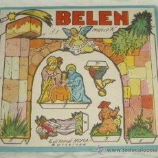 Coleccionismo Recortables: RECORTABLE DE BELÉN,ED.ROMA. Lote 141906038