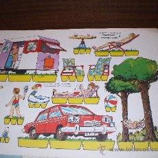 Coleccionismo Recortables: HOJA DE RECORTABLES EDITORIAL ROMA 1970 MIDE34X25. Lote 22741951