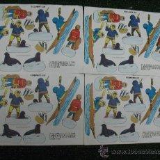 Coleccionismo Recortables: PACK DE 4 HOJAS DE ESQUIMALES. Lote 24777639