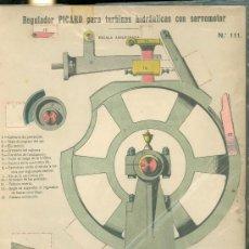 Coleccionismo Recortables: LAMINA CON ESQUEMA TROQUELADO. REGULADOR PICARD PARA TURBINAS HIDRAULICAS. Nº 111. 1915. . Lote 25121541