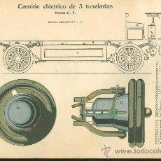 Coleccionismo Recortables: LAMINA CON ESQUEMA TROQUELADO. CAMION ELECTRICO DE 5 TONELADAS. Nº 131. 1915.. Lote 25121706