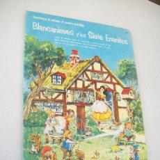 Coleccionismo Recortables: BLANCANIEVES Y LOS SIETE ENANITOS-D.M. PRIESTLEY-CONTRUYE TU MISMO EL CUADRO MOVIBLE-S/F.. Lote 25213603