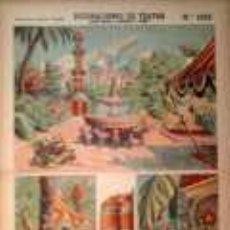 Coleccionismo Recortables: PALUZIE, JARDIN ORIENTAL (BASTIDORES Y FONDO). Lote 38989004