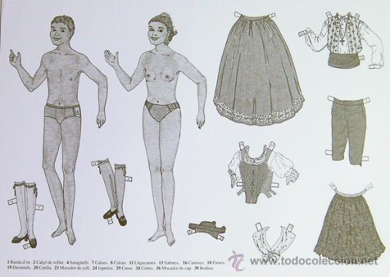 ALICANTE, RECORTABLE TRAJES HOGUERAS DE SAN JUAN (Coleccionismo - Otros recortables)