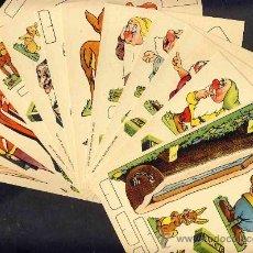 Coleccionismo Recortables: COLECCION COMPLETA DE 12 RECORTABLES DE PALMOLIVE, CON PERSONAJES WALT DISNEY (V.FOTOS ADICIONALES). Lote 105366263