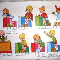 Coleccionismo Recortables: RECORTES BABY. ESCENAS INFANTILES-7. EN EL COLEGIO. Lote 28299076