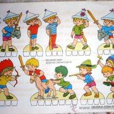 Coleccionismo Recortables: RECORTES BABY. ESCENAS INFANTILES-5. JUGUEMOS A GUERRAS. Lote 28299104