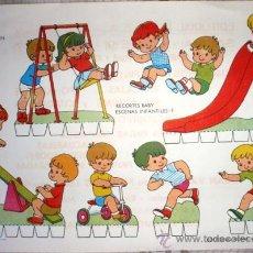 Coleccionismo Recortables: RECORTES BABY. ESCENAS INFANTILES-1. JUGANDO EN EL PARQUE. Lote 28299154