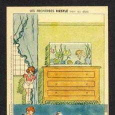 Coleccionismo Recortables: RECORTABLE NESTLE: PERMITE EL MONTAJE DE UN DIORAMA DE UN SALON. PECERA. Lote 28714285