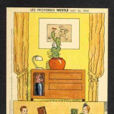 Coleccionismo Recortables: RECORTABLE NESTLE: PERMITE EL MONTAJE DE UN DIORAMA DE UN SALON. Lote 29544489