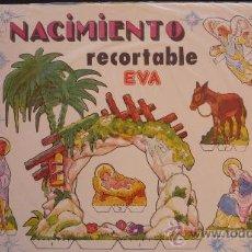 Coleccionismo Recortables: NACIMIENTO RECORTABLE EVA.- 28 FIGURAS NUMERADAS + 11 PIEZAS PARA MONTAR UN PUENTE Y UN POZO + UNA... Lote 169916385