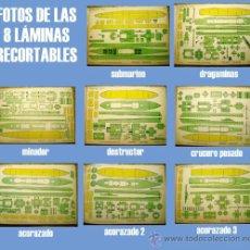 Coleccionismo Recortables: RECORTABLES TORAY: BARCOS DE GUERRA GRUPO 4º COMPLETO, 8 LÁMINAS SIN PORTADA.. Lote 29711100