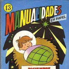 Coleccionismo Recortables: MANUALIDADES EN PAPEL Nº 13 UN CALENDARIO MENSUAL-ED.SALVATELLA AÑO 1965. Lote 29752842