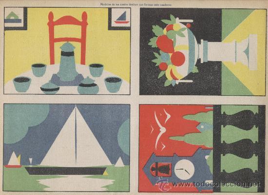Coleccionismo Recortables: Dibujo simétrico recortable. Trabajos manuales Salvatella. Cuaderno 3. Años 1930 - Foto 2 - 29798670