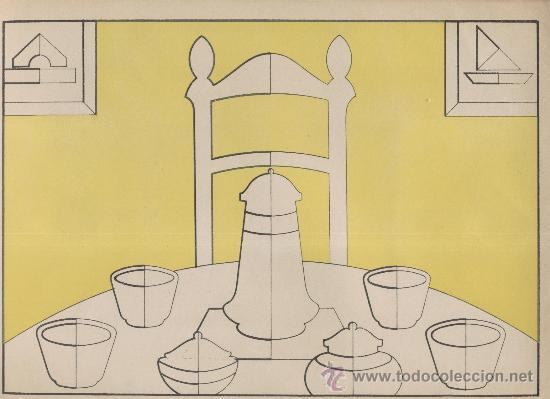 Coleccionismo Recortables: Dibujo simétrico recortable. Trabajos manuales Salvatella. Cuaderno 3. Años 1930 - Foto 4 - 29798670