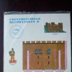 Coleccionismo Recortables: CONSTRUCCIONES RECORTABLES MAVES Nº 1.- EL CASTILLO.- 4 PÁGINAS DE CARTULINA TAMAÑO 34 X 24 CM.. Lote 29918066