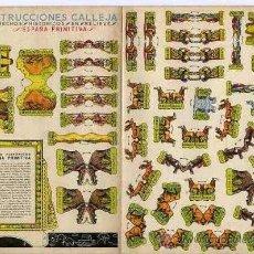 Coleccionismo Recortables: CONSTRUCCIONES CALLEJA.- SERIE 4ª COMPLETA - 6 RECORTABLES HECHOS HISTÓRICOS.- 1) ESPAÑA PRIMITIVA,. Lote 29981237